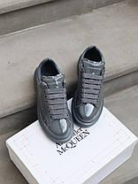 Женские кроссовки в стиле Alexander McQueen Grey Patent (люкс), фото 2