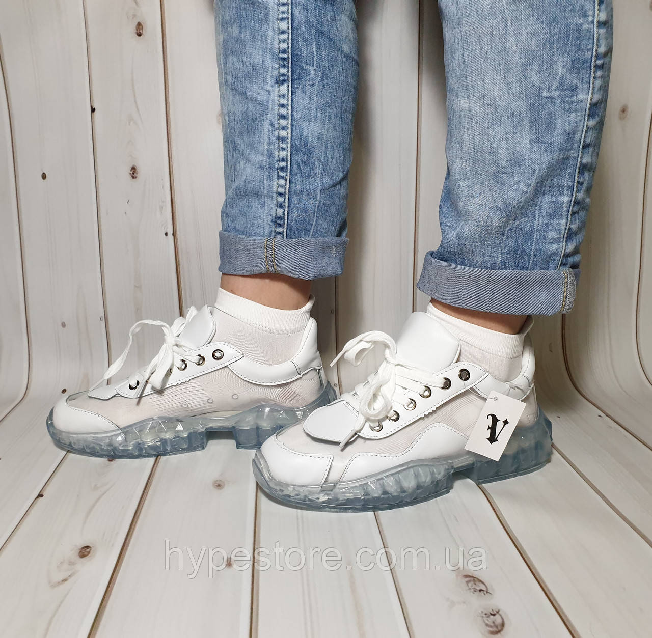 Оригинальные комбинированные женские кроссовки силиконовые,прозрачные , наличие размеров см.в описании!