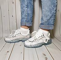 Оригинальные комбинированные женские кроссовки силиконовые,прозрачные , наличие размеров см.в описании!, фото 1