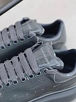 Женские кроссовки в стиле Alexander McQueen Grey Patent (люкс), фото 3