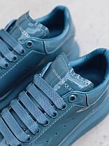 Женские кроссовки в стиле Alexander McQueen Moss Patent (люкс), фото 2