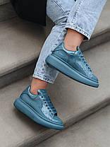 Женские кроссовки в стиле Alexander McQueen Moss Patent (люкс), фото 3