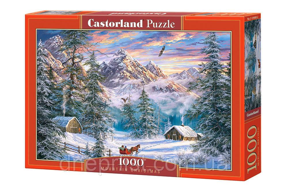"""Пазл 1000 эл. """"Castorland"""" (Польша) / Рождество в горах"""
