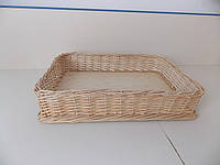 Плетеный лоток из лозы h10-65*40, фото 1