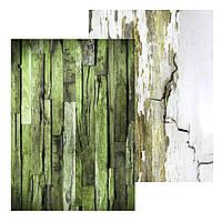 1 Лист двусторонней бумаги для скрапбукинга, коллекция Деревянный А4