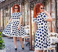 Нарядное пышное платье с расклешенной юбкой с отделкой из итальянского кружева размеры 50-56 арт 41279