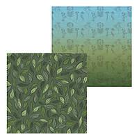 1 Лист двусторонней бумаги для скрапбукинга, коллекция  Forest 30х30 см.