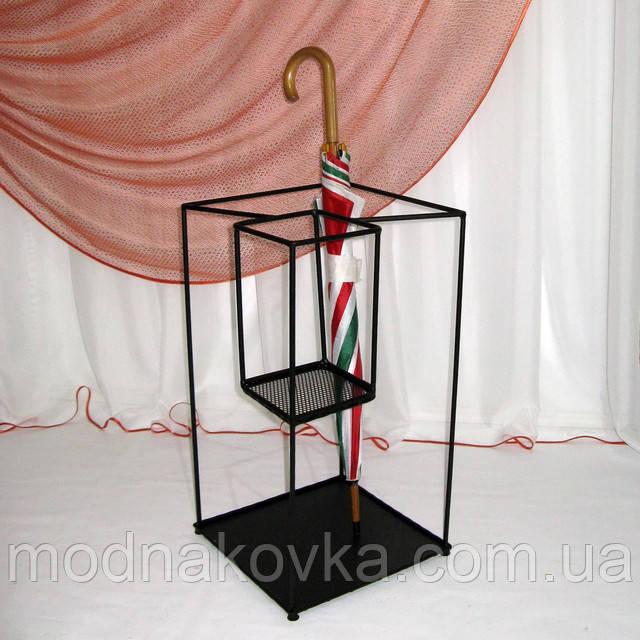 подставка для зонтов двойная черная