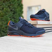 Мужские кроссовки Nike Air Presto, сетка, пена, черные с оранжевым 41 (26 см по стельке)