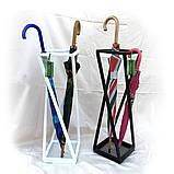 Кованая подставка для зонтов черная Модерн І Зонтовница металлическая 66х20х20, фото 5