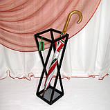 Кованая подставка для зонтов черная Модерн І Зонтовница металлическая 66х20х20, фото 3
