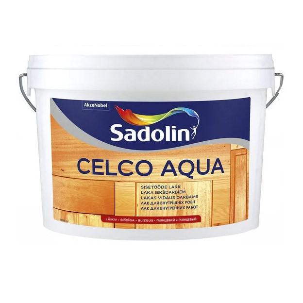 Лак для внутренних работ SADOLIN CELCO AQUA глянцевый 70 2.5 л