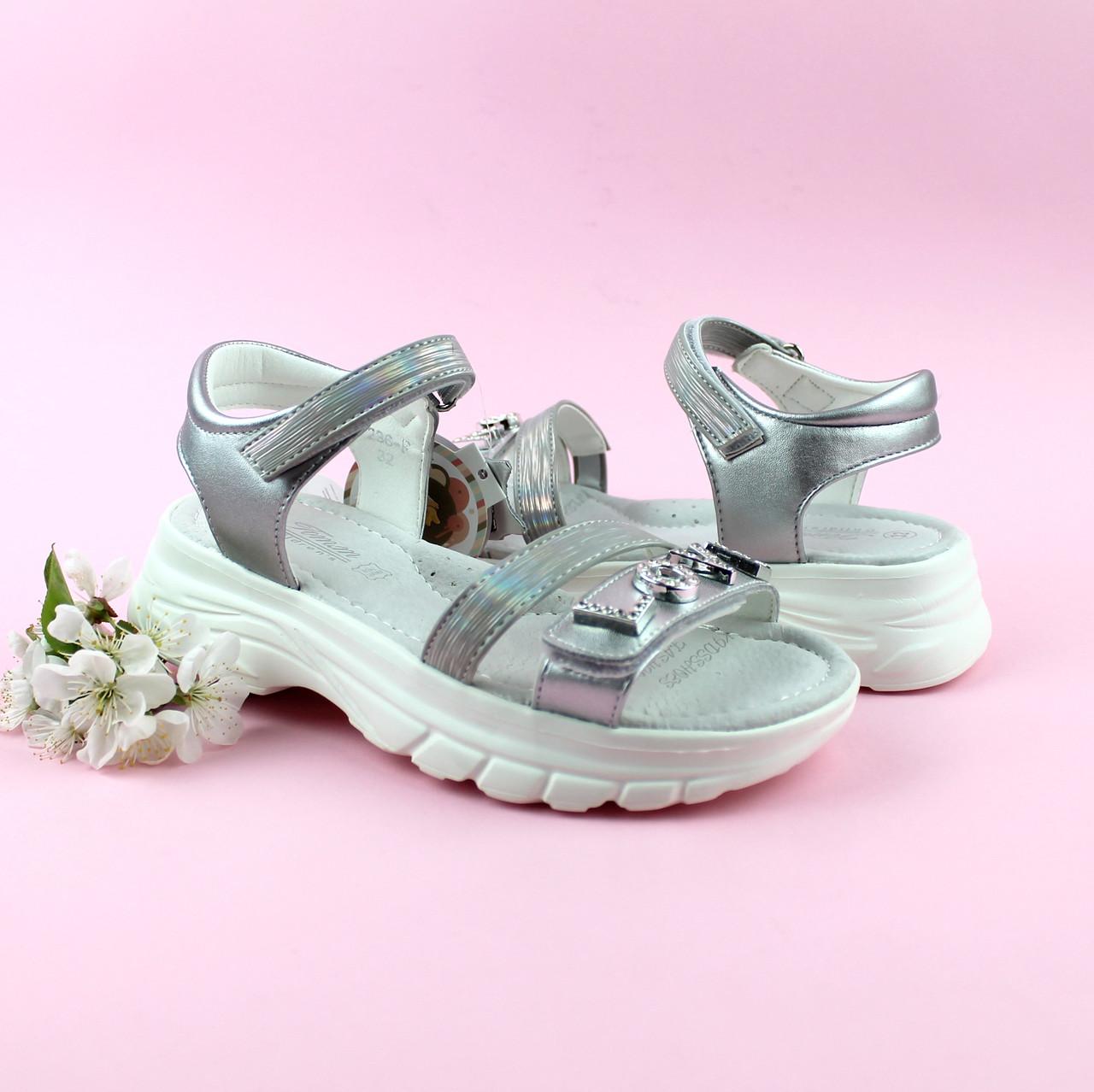 Босоножки для девочки Серебро тм Том.м размер 32,34