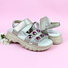 Босоножки для девочки Полоски на липучках тм Том.м р.35,37