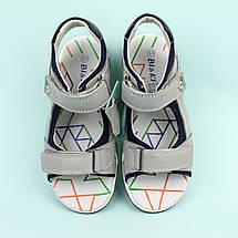 Шкіряні Босоніжки на хлопчика серія Класика тм Bi&Ki розміри 34,37, фото 2