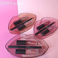Набор для макияжа губ Huda Beauty Lip Contour & Liquid Matte (3 оттенка)