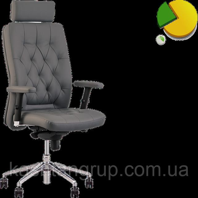 Кресло CHESTER R HR steel ST AL70 Екошкіра PEARL