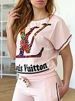 Женский брендовый спортивный костюм (Турция, Louis Vuitton); разм 44,46,48