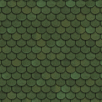 """Битумная черепица """"Shinglas"""" Танго """"бобровый хвост"""" ( зеленый )"""