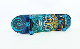 Скейтборд деревянный в сборе из канадского клена SK-414 OF Синий