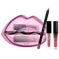 Набор для макияжа губ Huda Beauty Lip Contour & Liquid Matte (3 оттенка) In Trophy Demi Matte In Sheikha