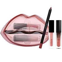 Набор для макияжа губ Huda Beauty Lip Contour & Liquid Matte (3 оттенка) In Day Slayer & Venus