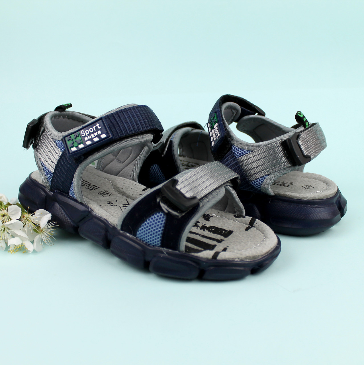 Спортивные сандалии на липучках мальчику Том.м размер 34,35,36,37