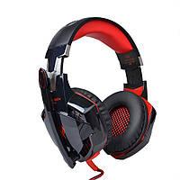 Геймерские наушники Kotion Each G2000 Pro Gaming с подсветкой (Черно-красный), фото 1