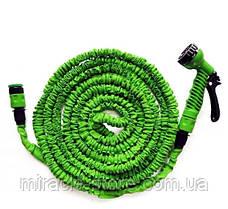 Садовый шланг для полива Magic Hose растягивающийся до 22.5 метров с распылителем, фото 3