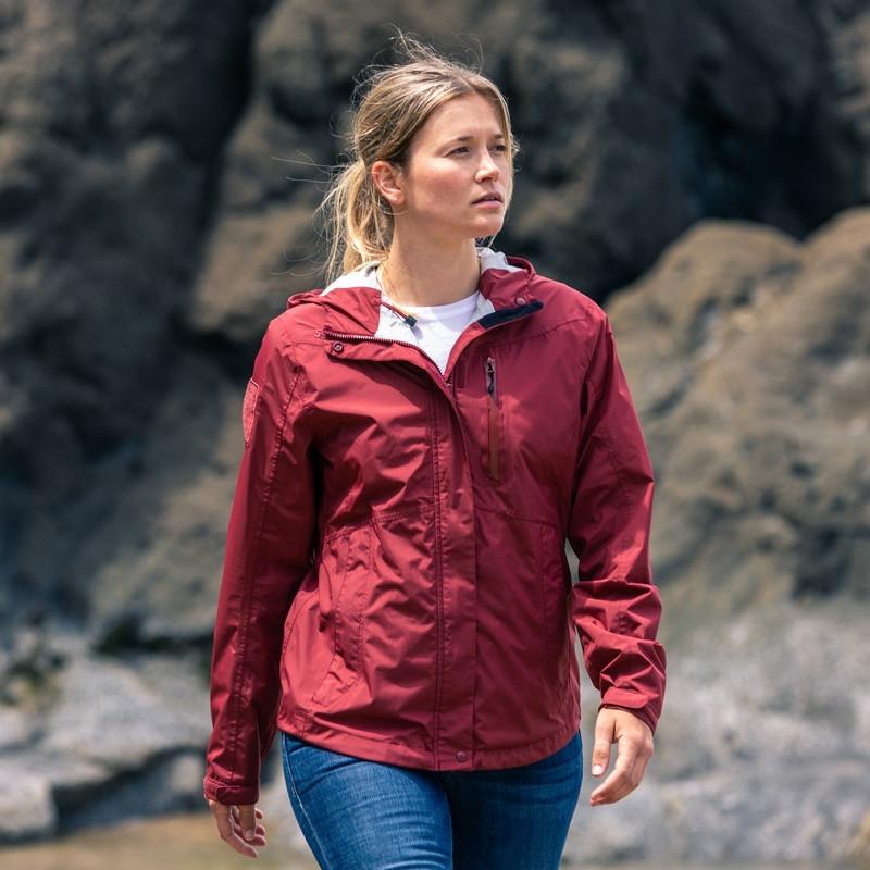 Оригинал Женская тактическая мембранная куртка 5.11 WOMENS AURORA SHELL JACKET, Sangria 38077 Medium