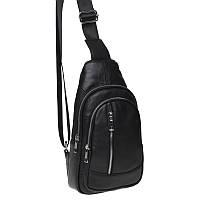 Мужской кожаный рюкзак Akor akK1168-black