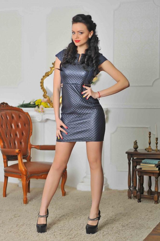 Нарядное платье синее. 42-46 р