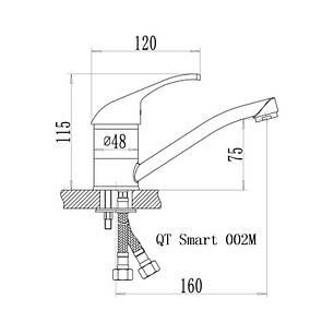 Змішувач для кухні Q-tap Smart CRM 002M, фото 2