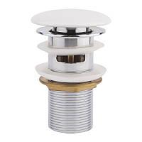 Донный клапан для раковины Q-tap F008-1 WHI с переливом