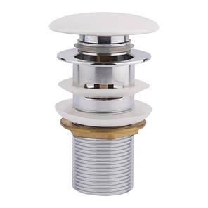 Донный клапан для раковины Q-tap F008-1 WHI с переливом, фото 2