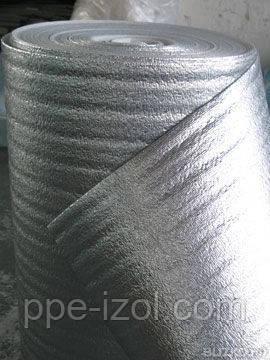 Вспененный полиэтилен ламинированный металлизированной пленкой, пенофол 4мм