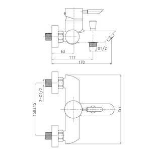Змішувач для ванни Qtap Elit СRM 006, фото 2