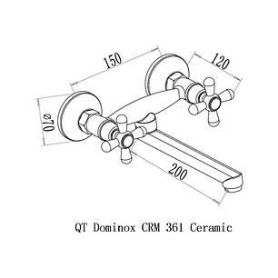 Змішувач для кухні Qtap Dominox CRM 361, фото 2