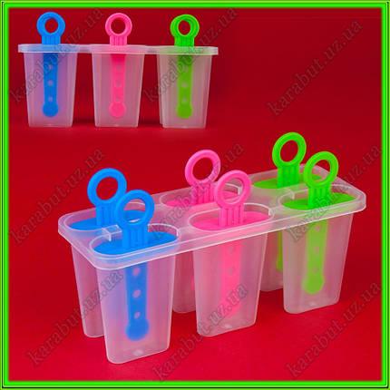 Формочки для замороженного сока из 6-ти 1 штука = 50 мл., фото 2
