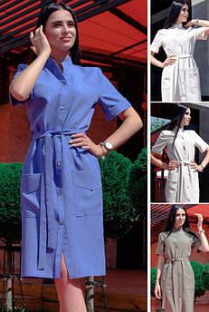 Стильне лляне плаття Конкор