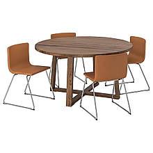 Cтол и 4 стула MORBYLANGA / BERNHARD