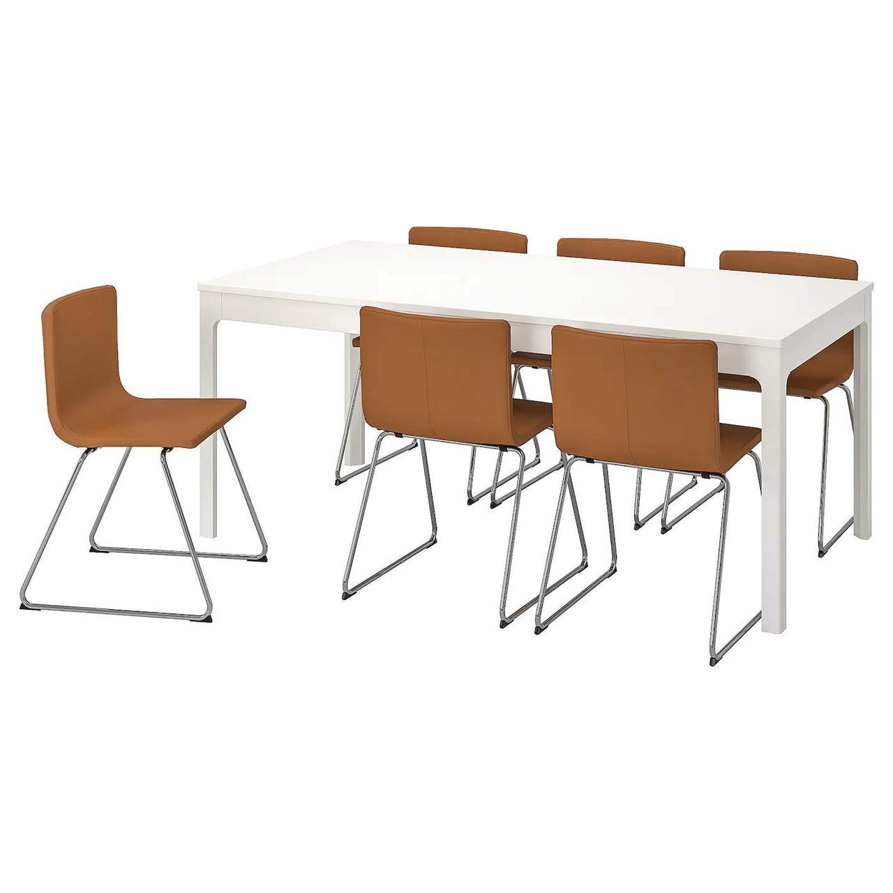 Стол и 6 стульев EKEDALEN / BERNHARD