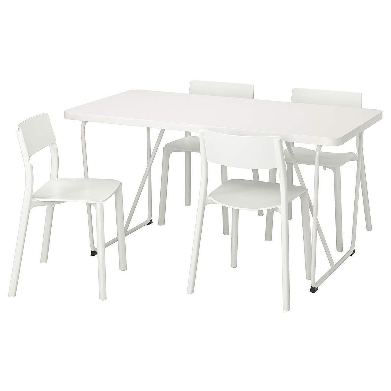Стол и 4 стула RYDEBACK/BACKARYD / JANINGE