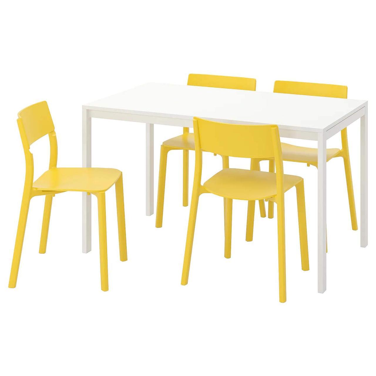 Стол и 4 стула MELLTORP / JANINGE