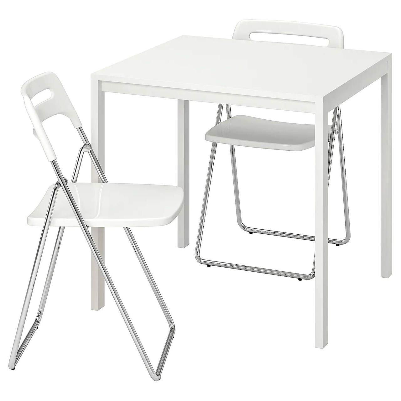Стол и 2 стула MELLTORP / NISSE