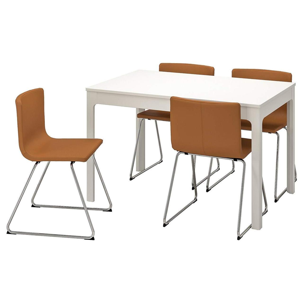 Стол и 4 стула EKEDALEN / BERNHARD