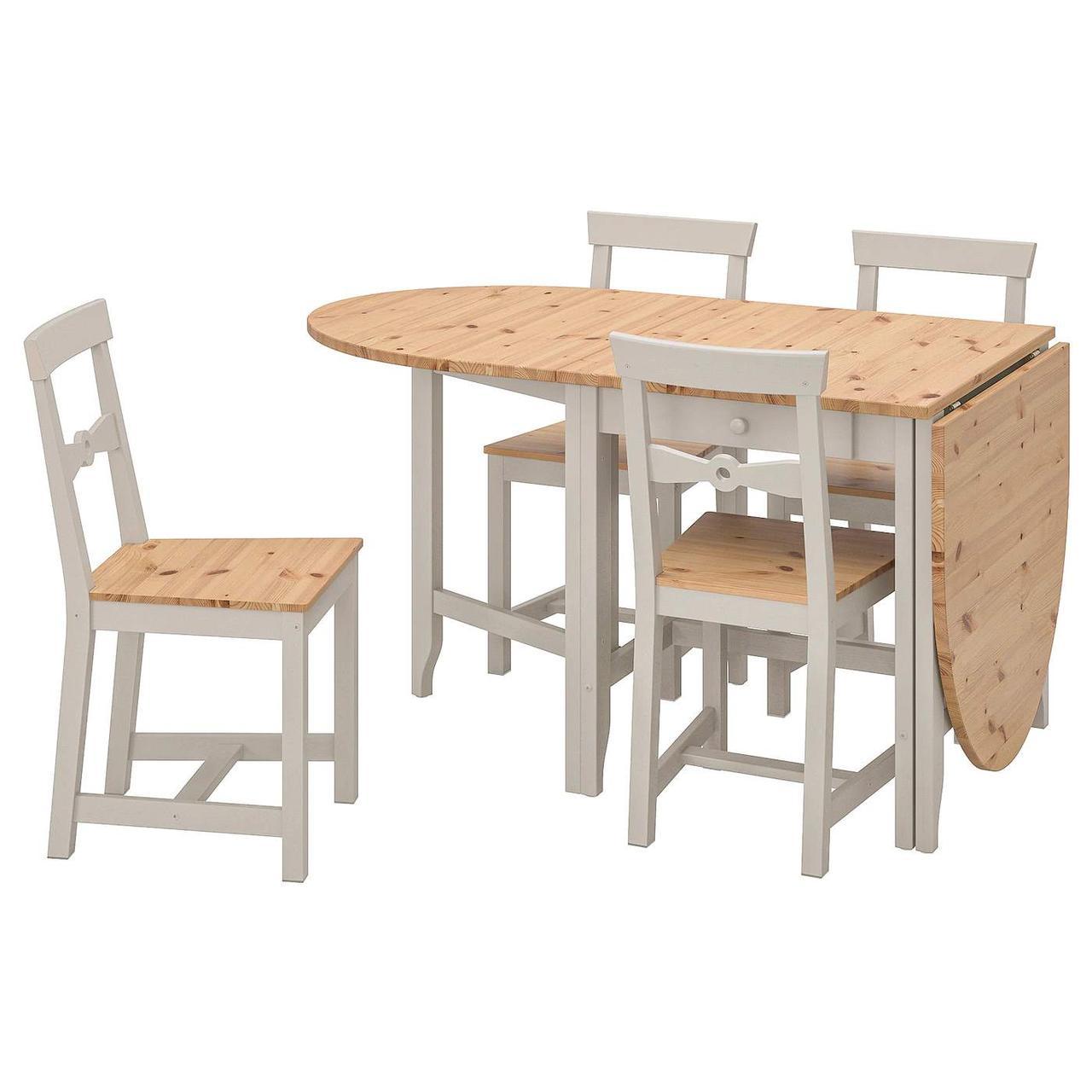 Стол и 4 стула GAMLEBY