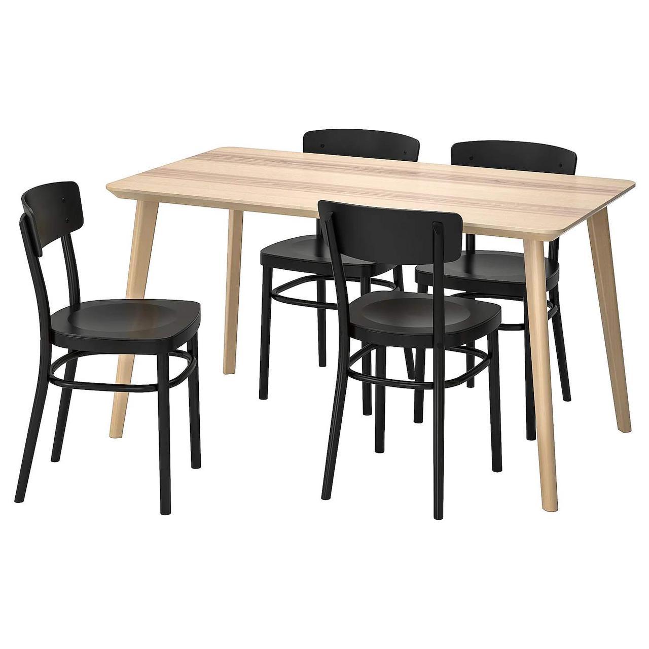 Стол и 4 стула LISABO / IDOLF