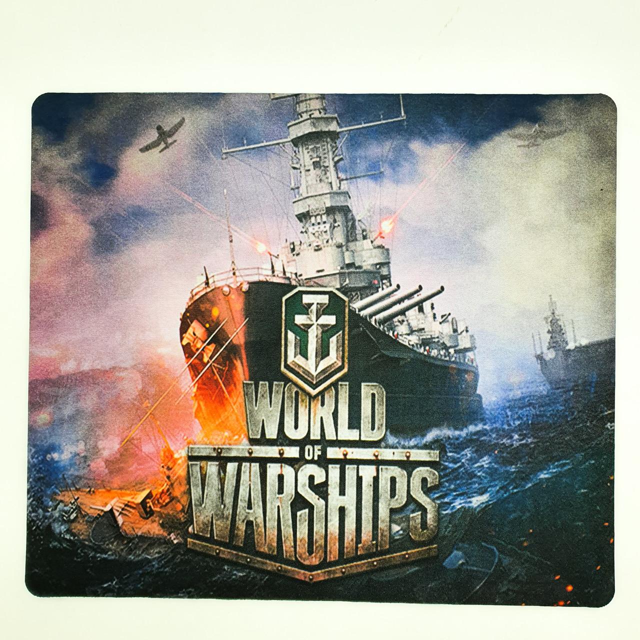 Ігрова поверхня килимок для миші 24x32x0.3 см World of ships 2