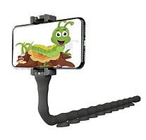 Гибкий держатель для телефона с присосками универсальный Cute Worm Lazy Holder черный
